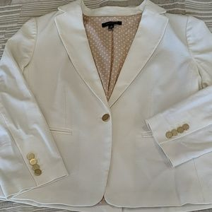 Anne Taylor White Cotton Blazer